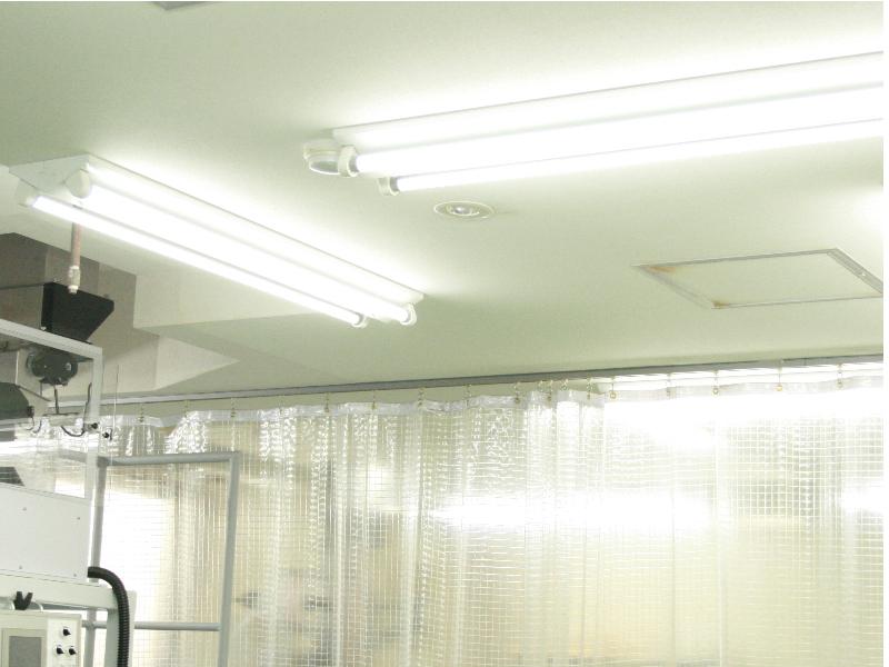 製造室LED照明設置